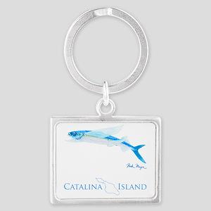 Flying Fish Catalina Island 2 Landscape Keychain