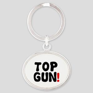 TOP GUN! Oval Keychain