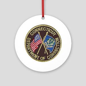Connecticut DOC patch Round Ornament