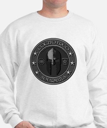 I Think Therefore I Am Armed Sweatshirt