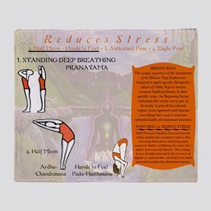 Bikram Yoga Postures #1 and #2 Throw Blanket