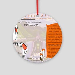 Bikram Yoga Postures #1 and #2 Round Ornament