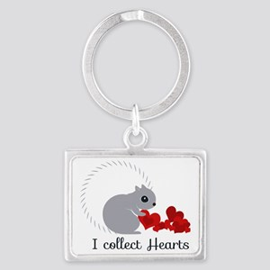 I Collect Hearts Landscape Keychain