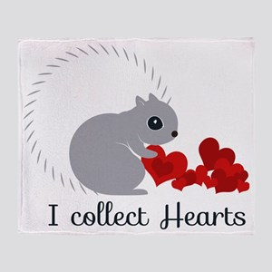 I Collect Hearts Throw Blanket