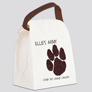 Elles Army - Stomp out Cancer Canvas Lunch Bag