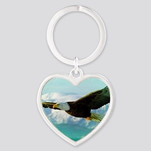 soaring eagle Heart Keychain