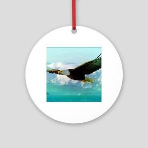 soaring eagle Round Ornament