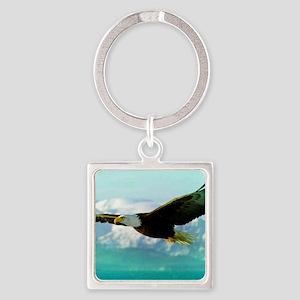 soaring eagle Square Keychain