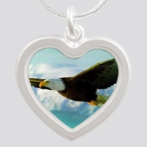 soaring eagle Silver Heart Necklace