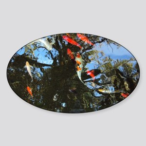As Above So Below Koi Pond Sticker (Oval)