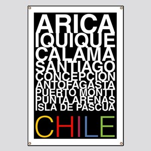 CHILE Major Cities Poster Banner