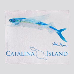 Flying Fish Catalina Island 1 Throw Blanket