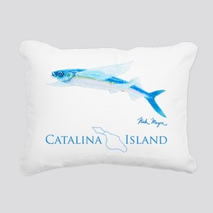 Flying Fish Catalina Isl Rectangular Canvas Pillow