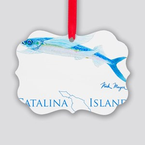 Flying Fish Catalina Island 1 Picture Ornament