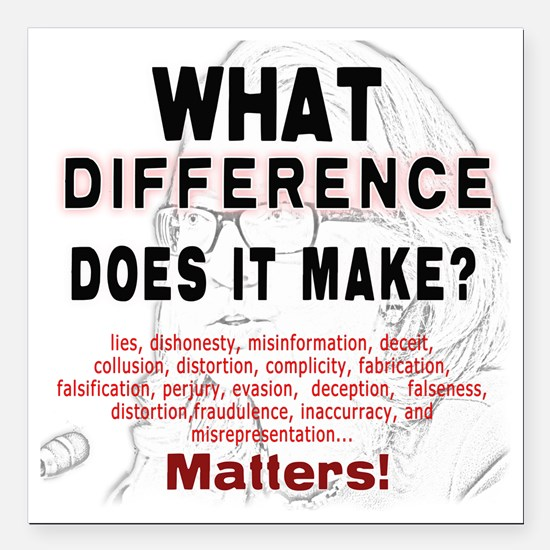 "What Difference Does It  Square Car Magnet 3"" x 3"""