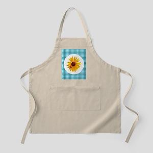 Summer Sunflower Gingham Apron