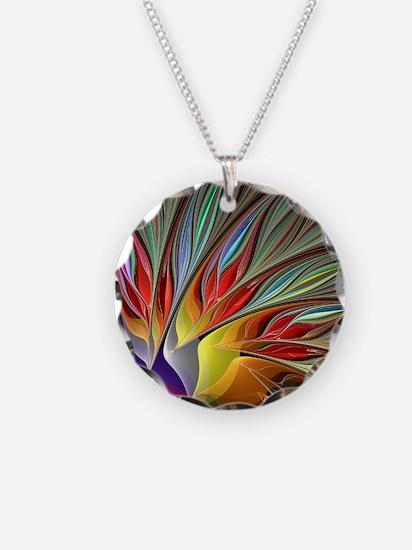 Fractal Bird of Paradise Necklace