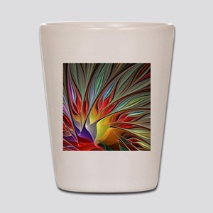 Fractal Bird of Paradise Shot Glass
