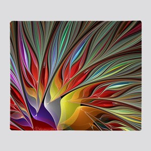 Fractal Bird of Paradise Throw Blanket