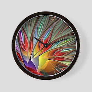 Fractal Bird of Paradise Wall Clock