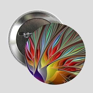 "Fractal Bird of Paradise 2.25"" Button"