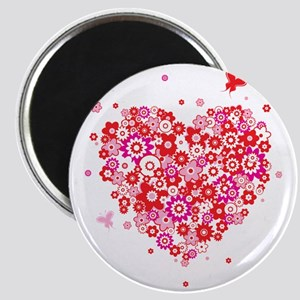 Valentines Day Flowers Magnet