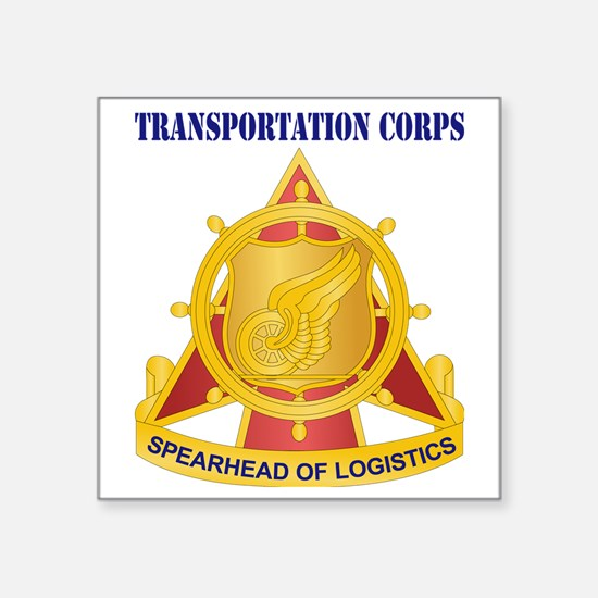 "Transportation Corps with T Square Sticker 3"" x 3"""