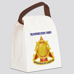 Transportation Corps with Text Canvas Lunch Bag