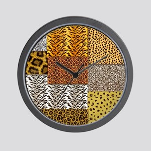 Patchwork 2 animal Wall Clock
