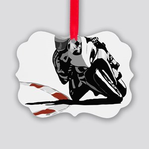 Track Rider (full) Picture Ornament