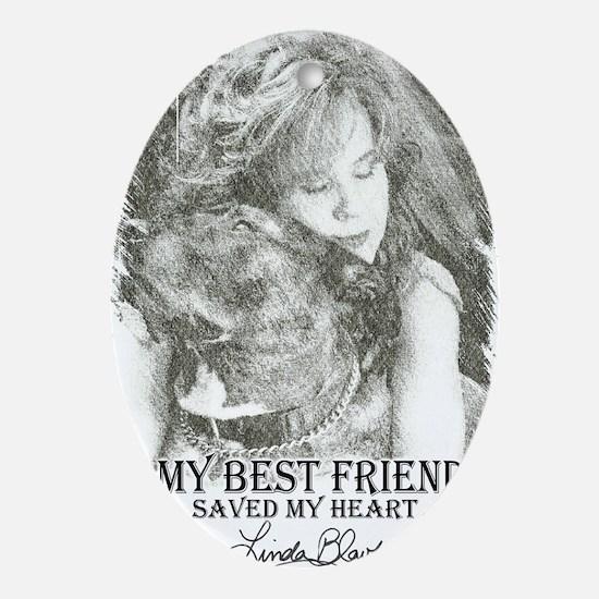 LBWF Best Friends Tshirt Oval Ornament