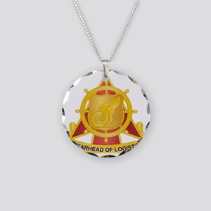 Transportation Corps Necklace Circle Charm