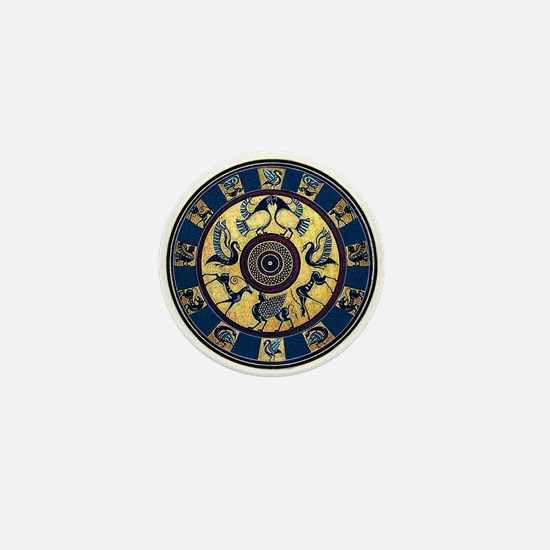 Greek Plate Mini Button