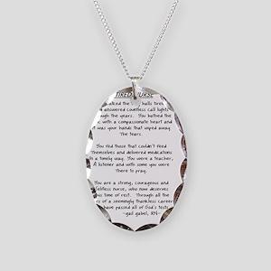 Retire Nurse Poem gails CLEAR Necklace Oval Charm