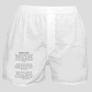 Retire Nurse Poem gails CLEAR Boxer Shorts