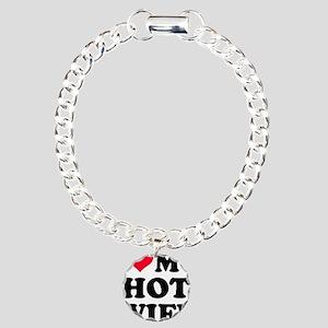 I love my hot wife Charm Bracelet, One Charm