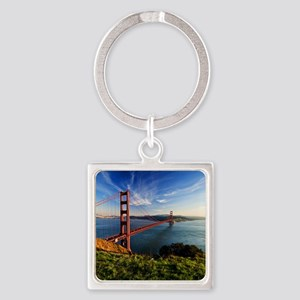 Golden Gate Bridge Square Keychain