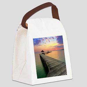 Beach Dock Canvas Lunch Bag