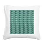 Round Bottom Bottles Collage Square Canvas Pillow