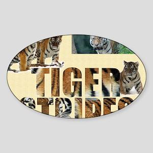 tiger cover Sticker (Oval)