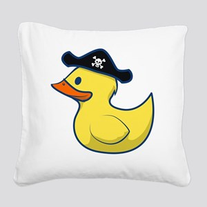 Pirate Duck Square Canvas Pillow