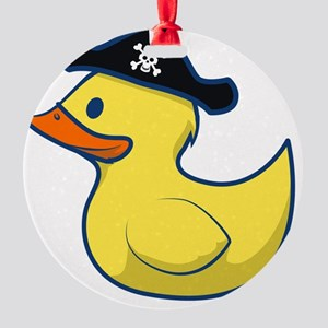 Pirate Duck Round Ornament