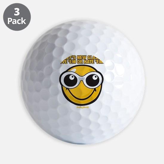 Glasses Smiley Golf Ball