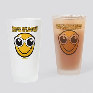Glasses Smiley Drinking Glass