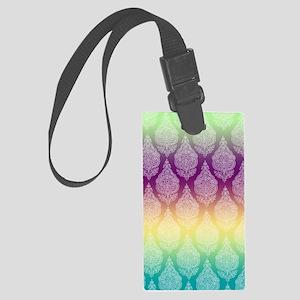 Rainbow Henna Large Luggage Tag