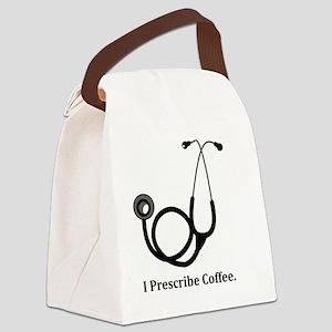 "Funny Doctor - ""I Prescribe Coffe Canvas Lunch Bag"