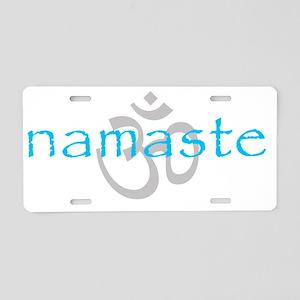 Om Namaste Aluminum License Plate