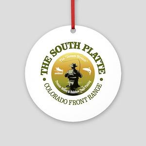 South Platte River Round Ornament