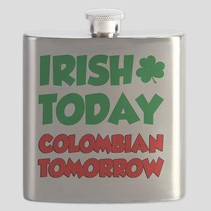 Irish Today Colombian Tomorrow Flask