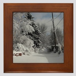Snowflake Ornament Framed Tile